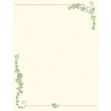 Great Papers! Ivy Border Letterhead 8.5