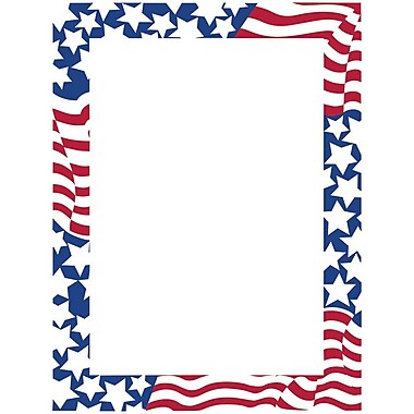 Great Papers! Stars & Stripes Letterhead 8.5