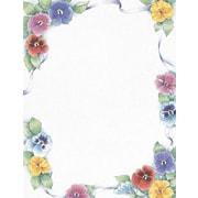 "Great Papers! Pretty Pansies Letterhead   8.5"" x 11""  80 count (2014313)"