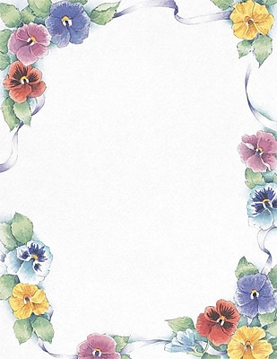 Great Papers! Pretty Pansies Letterhead, 8.5