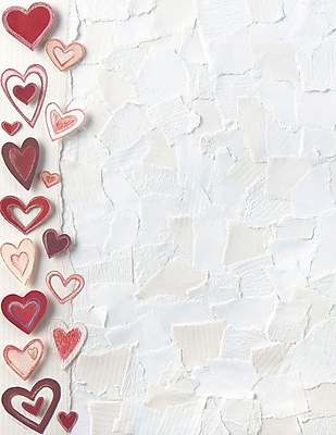 Great Papers! Paper Hearts Letterhead 8.5