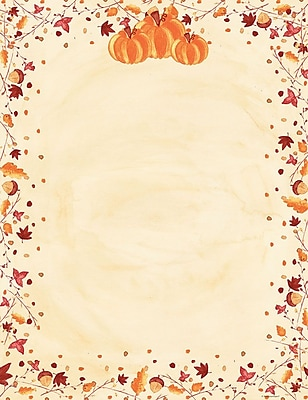 Great Papers! Painted Pumpkin Letterhead 8.5