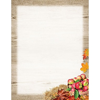 Great Papers! Autumn Apple Letterhead 8.5