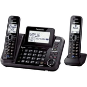 Panasonic Bluetooth KX-TG9542B Cellular Convergence Solution Landline Telephone, 2-Handset System