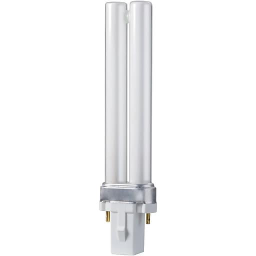 Philips Compact Fluorescent PL-S Lamp, 7 Watts, 2-Pin, Warm White, 10PK