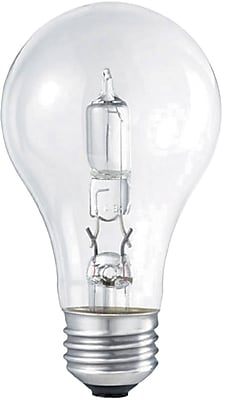 Philips Halogen Light Bulb, Clear A19, 72 Watt, 24/Pk
