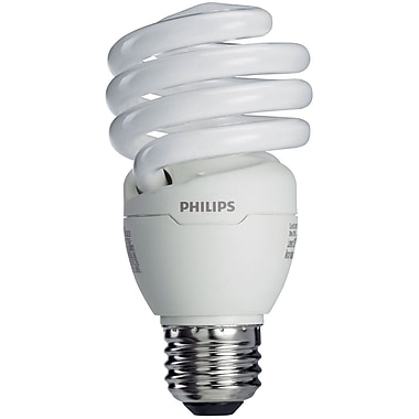Philips 18W Compact Fluorescent Light Bulb, Twister, 6/Pack (414003)