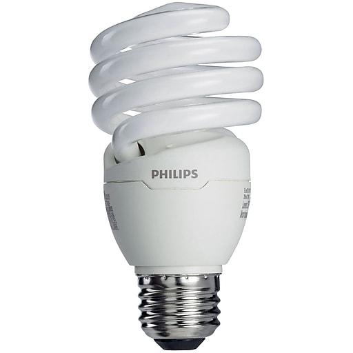 Philips Compact Fluorescent Light Bulb, 13 Watt, 3500k, Twister, 4 ...