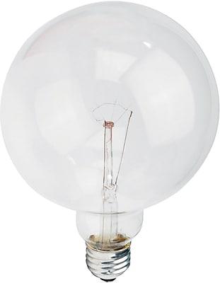 Philips Incandescent Clear G40 Globe Lamp, 60 Watts, 6PK