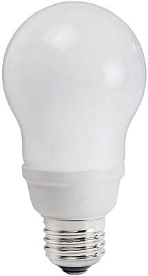 Philips Compact Fluorescent A19 Light Bulb, 17 Watts, Warm White, 6PK