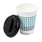 Staples Brand Paper Hot Cups and Lids Combo Pack, 12 oz, 50/pk