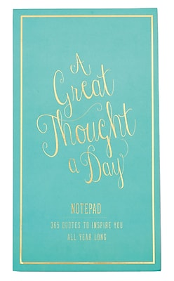 Eccolo A Great Thought A Day 365 Notepad, 6x8, 365 Sheets (T609A-ST)