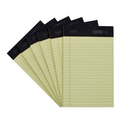 """Staples® 5""""x8"""" Double Pad, Canary, Narrow Ruled, 6/Pack"""