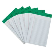 "Staples® 100% Recycled, 5"" x 8"", White, Perforated Notepad, Narrow Ruled, 12/Pack"
