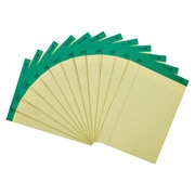 "Staples 100% Recycled Narrow Ruled Perforated Notepads, Canary, 8 1/2"" x 11 3/4"", Canary, 12/Pack (21674STP)"