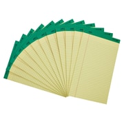 "Staples 100% Recycled 8-1/2"" x 14"", Canary, Perforated Writing Pads, Wide Ruled, 12/Pack (18594STP)"