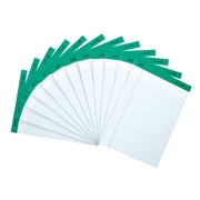 """Staples 100% Recycled Perforated Notepads, White, 8 1/2"""" x 11 3/4"""", Narrow Ruled, 12/Pack (21675)"""