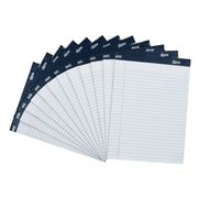"Signa® 8-1/2"" x 11-3/4"", White, Perforated Notepads, Wide Ruled, 12/Pack (18134STP)"