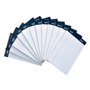 "Signa® 5"" x 8"", White, Perforated Notepads, Narrow Ruled, 12/Pack"