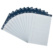 "Signa® 8-1/2"" x 14"", White, Perforated Legal Pads, Wide Ruled, 50 Sheets, 12/Pack"