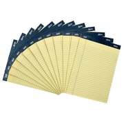 "Staples Signa Notepads, Wide Ruled, 8-1/2"" x 11-3/4"", Yellow, 12/Pack"