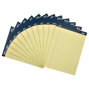 "Staples Signa Notepads, 8.5"" x 11.75"" (Letter size), Narrow Ruled, 50 Yellow Sheets Per Pad, 12/pack, (18125STP)"