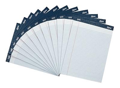 Staples Signa Notepads, 8.5' x 11.75