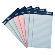 "Staples® Signa 5"" x 8"" Narrow Ruled Notepads, 50 Assorted Pastel Sheets per pad, 6/Pack (18139STP)"
