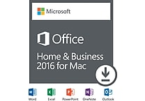 Office Home and Business 2016 for Mac (1 User) [Download]