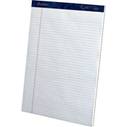 "Ampad® Gold Fibre® Perforated Notepads, 8.5"" x 11.75"", Narrow Ruled, 50 White sheets per pad, 12/Pack (20072)"