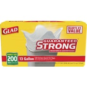 Glad® Tall Kitchen Quick-Tie® Trash Bags, 13 Gallon, 200 Count