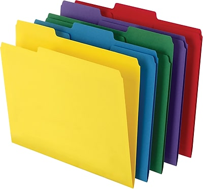 staples u00ae colored top tab file folders  3 tab  5 color cleaning clipart image cleaning clipart kids