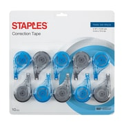 Staples® Sidewinder Correction Tape, Sidewinder 10/Pack