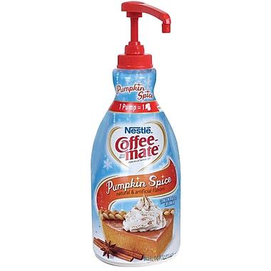 Nestlé® Coffee-mate® Coffee Creamer, Pumpkin Spice, 1.5L liquid pump bottle, 1 bottle