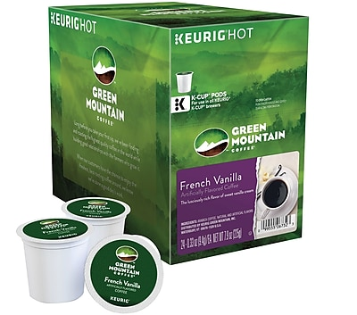 Keurig K-Cup Green Mountain Coffee French Vanilla Coffee, 24 Count 707197