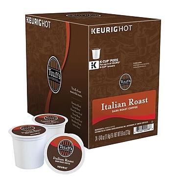 Keurig® K-Cup® Tully's® Italian Roast Extra Bold Coffee, Regular, 24 Pack
