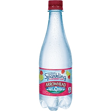 ARROWHEAD Sparkling Mountain Spring Water, Raspberry Lime 16.9-ounce Plastic Bottle, 24/Case