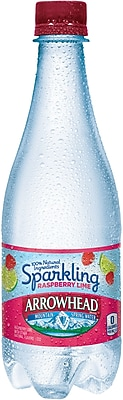 Arrowhead® Brand Sparkling Mountain Spring Water, Raspberry Lime, 16.9 Ounce Plastic Bottle, 24/Case (12349476/122152)