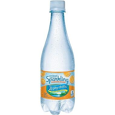 ZEPHYRHILLS Sparkling Natural Spring Water, Mandarin Orange 16.9-ounce Plastic Bottle, 24/Case