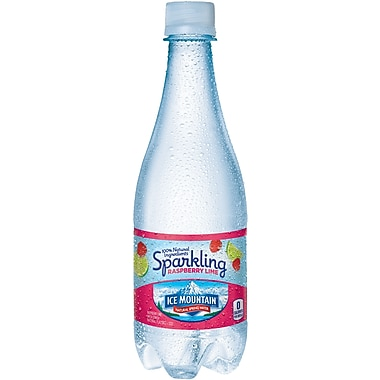ICE MOUNTAIN Sparkling Natural Spring Water, Raspberry Lime 16.9-ounce Plastic Bottle, 24/Case