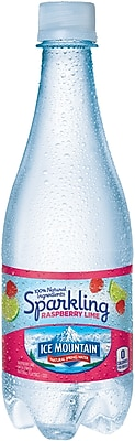 Ice Mountain® Brand Sparkling Natural Spring Water, Raspberry Lime, 16.9 Ounce Plastic Bottle, 24/Case (12349523/122056)