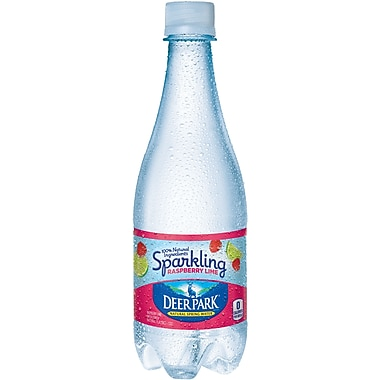 DEER PARK Sparkling Natural Spring Water, Raspberry Lime 16.9-ounce Plastic Bottle, 24/Case