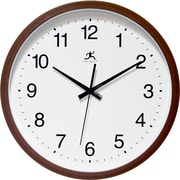 "Infinity Instruments 14""  Wall Clock, Walnut Finish Clock"