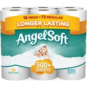 Angel Soft®  Toilet Paper, 18 Mega Rolls, Bath Tissue