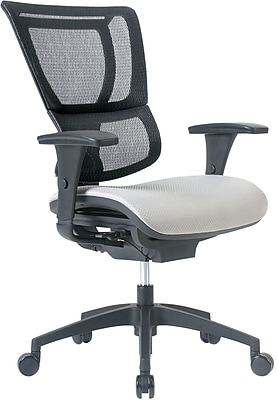 Staples Professional Series 1500TF Mesh Back Chair, Shale