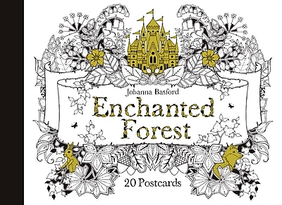 Chronicle Books, Johanna Basford, Enchanted Forest Postcards, Multicolor, 8.07