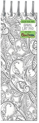 Adult Coloring Paisley Tall Flip Note Pad