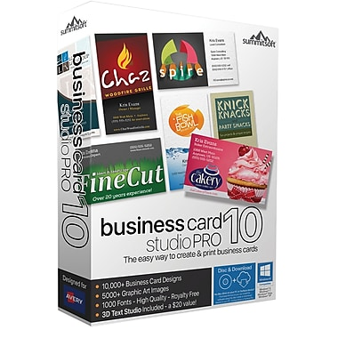 Business Card Studio Pro 10 (2 User) [Boxed]
