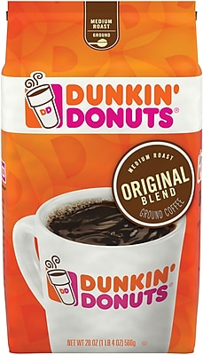 Dunkin' Donuts Original Blend Medium-Roast Ground Coffee, 20 Oz.