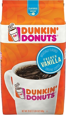 Dunkin' Donuts French Vanilla Ground Coffee, 20 Oz.